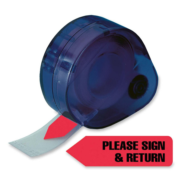 Redi-Tag® PLEASE SIGN & RETURN Tag Dispenser-RED
