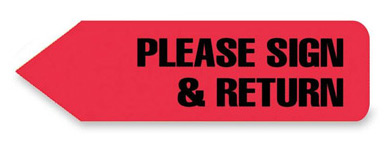 Redi-Tag® PLEASE SIGN & RETURN Tag Refill Box-RED