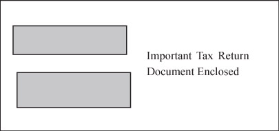 Double Window Envelope for 1099 & 5498 Forms