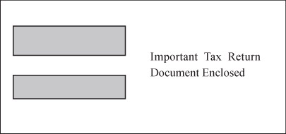 Double Window Envelope for W-2 3-per-page Laser Forms