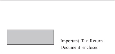 Single Window Envelope for 1099 & 5498
