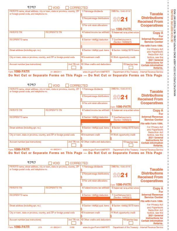 1099 Patr 4 Part Ncr Continuous Form 1099 Patr 4 Part Ncr Continuous